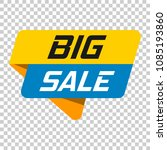 big sale banner badge icon.... | Shutterstock .eps vector #1085193860