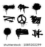 spray set paint vector splatter ... | Shutterstock .eps vector #1085202299