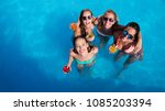 group of friends partying in... | Shutterstock . vector #1085203394