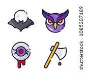 halloween icon.black design... | Shutterstock .eps vector #1085207189