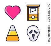 halloween icon.black design... | Shutterstock .eps vector #1085207240