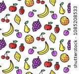 fruits doodle childlike... | Shutterstock .eps vector #1085208533