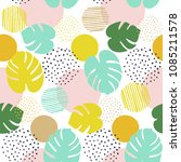 seamless tropical pattern with... | Shutterstock .eps vector #1085211578