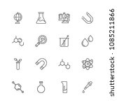 premium set of chemical related ... | Shutterstock .eps vector #1085211866