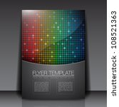 rainbow squares   flyer... | Shutterstock .eps vector #108521363