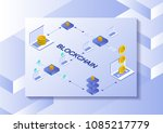 ethereum crypto currency mining ... | Shutterstock .eps vector #1085217779