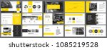 yellow and black statistics or... | Shutterstock .eps vector #1085219528