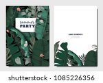tropical botanical garden...   Shutterstock .eps vector #1085226356