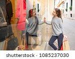 beautiful tourist teenager in... | Shutterstock . vector #1085237030