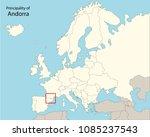 europe map  andorra  | Shutterstock .eps vector #1085237543