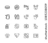 premium set of veterinary icons.... | Shutterstock .eps vector #1085238059