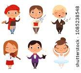cartoon illustrations of... | Shutterstock .eps vector #1085238548