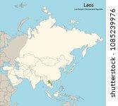 asia map  laos | Shutterstock .eps vector #1085239976