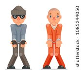 arrested thief prisoner... | Shutterstock .eps vector #1085244050