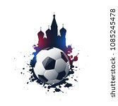 abstract 2018 russia football... | Shutterstock .eps vector #1085245478