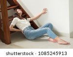 injured woman with hip pain or... | Shutterstock . vector #1085245913
