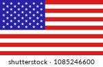 vector flag usa close up.... | Shutterstock .eps vector #1085246600
