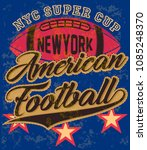 american football graphic tee... | Shutterstock .eps vector #1085248370