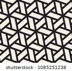 vector monochrome seamless... | Shutterstock .eps vector #1085251238