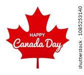 illustration for canada day...   Shutterstock .eps vector #1085253140