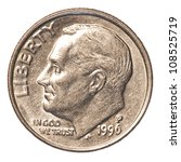 American One Dime Coin Isolated ...
