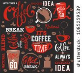 coffee elements collection... | Shutterstock .eps vector #1085259539