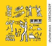 concert poster   sketchy music ... | Shutterstock .eps vector #1085262839