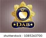 shiny badge with apple icon... | Shutterstock .eps vector #1085263700