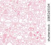 donation white line seamless... | Shutterstock .eps vector #1085265104