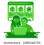 vector illustration of young... | Shutterstock .eps vector #1085266733