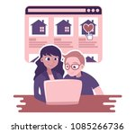 vector illustration of young... | Shutterstock .eps vector #1085266736