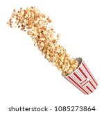 popcorn beautifully flies out... | Shutterstock . vector #1085273864