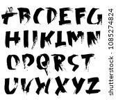 grunge distress font. modern... | Shutterstock .eps vector #1085274824