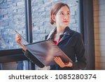 portrait of a attractive... | Shutterstock . vector #1085280374