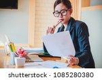 portrait of a attractive... | Shutterstock . vector #1085280380