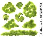 vector set abstract green... | Shutterstock .eps vector #1085281790