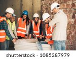 architect and consruction... | Shutterstock . vector #1085287979