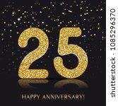 25 years happy anniversary... | Shutterstock .eps vector #1085296370