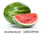Closeup Of Watermelon  Whole...