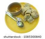 veg. tibetan momos food item in ... | Shutterstock . vector #1085300840