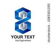 creative abstract hexagon 3d... | Shutterstock .eps vector #1085301350