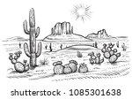 desert landscape vector... | Shutterstock .eps vector #1085301638