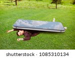 man was crushed by large... | Shutterstock . vector #1085310134