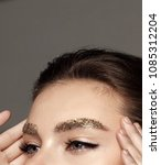 beauty face fashion model girl... | Shutterstock . vector #1085312204