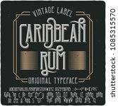 original label typeface named ... | Shutterstock .eps vector #1085315570
