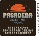 original label typeface named ... | Shutterstock .eps vector #1085315624
