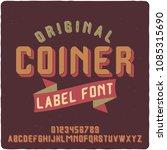 original label typeface named ...   Shutterstock .eps vector #1085315690