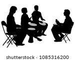 men and women with african... | Shutterstock .eps vector #1085316200