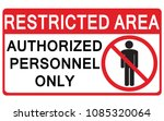 vector prohibited sign... | Shutterstock .eps vector #1085320064