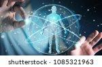 businessman on blurred... | Shutterstock . vector #1085321963